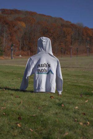 Nub's Nob Logo Hoodie- Heather Grey