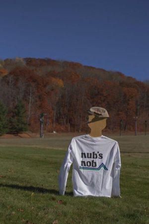 Nub's Nob Logo Long Sleeve T Shirt - White