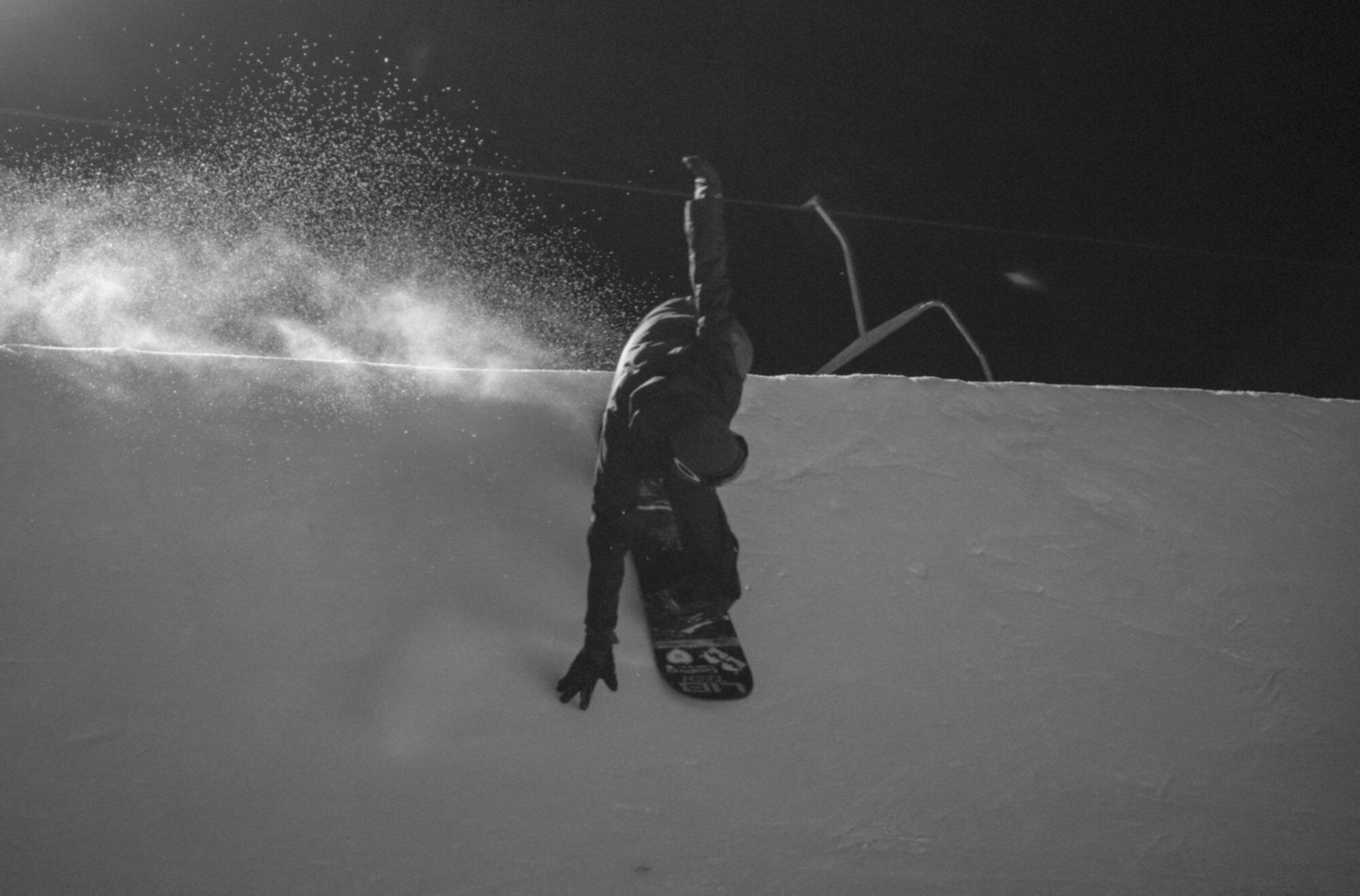 snowboarder on halfpipe