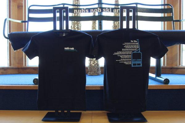 Blue chair poem t-shirt